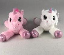 "#158240 - 10.5"" PLUSH UNICORN - YUNICE  -  48/CASE"