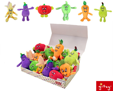 "#158332 - 5.75"" PLUSH HAPPY VEGGIES 6AT  -  72/CASE"