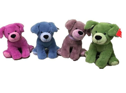 "#160113 - 8.5""PLUSH BEANIE DOGS-JEWEL .  -  36/CASE"