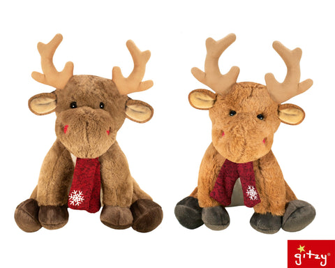 "#161141 - 12""PLUSH HOLIDAY MOOSE  -  12/CASE"