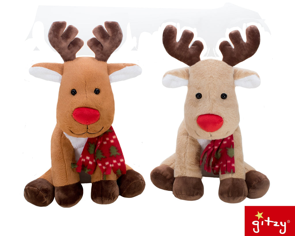 "#161158 - 17"" PLUSH HOLIDAY MOOSE 2AT .  -  12/CASE"