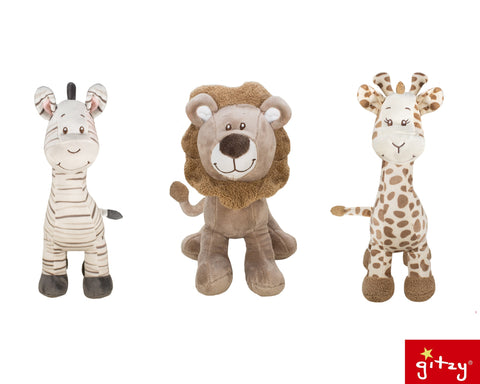 "#162360 - 12-16"" PLUSH BABY ANIMALS 3AT .  -  24/CASE"