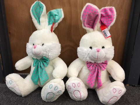"#164319 - 18"" PLUSH BUNNIES 2AT  -  12/CASE"
