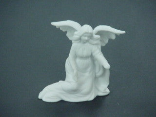 #16811 - BISQUE KNEELING ANGEL FIGURE  -  36/CASE