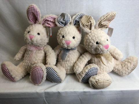 "#170778 - 11""SITTING GINGHAM BUNNIES 3AT  -  12/CASE"