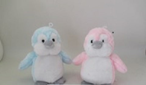 "#170877 - 8"" BABY PENGUINS W/RATTLE 2AT  - 36/CASE"