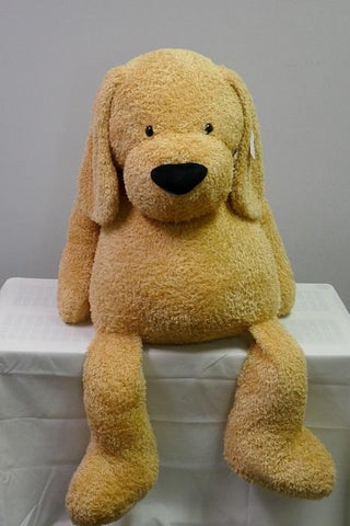 "#171614 - 18""PLUSH SITTING DOG - BAILEY .  -  4/CASE"