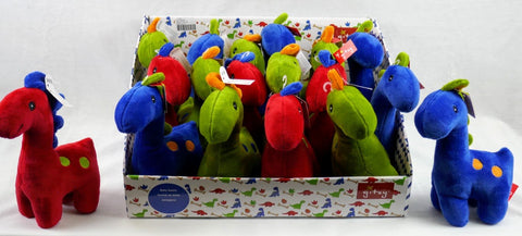 "#171621 - 8""PLUSH RATTLE DINOS 3AT  -  72/CASE"