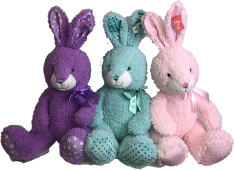 "#180944 - 15""SITTING POLKA DOT BUNNY-DOT  -  6/CASE"