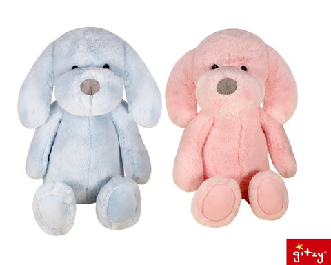 "#183105 - 13.25"" SO SOFT BLUE/PINK PUPPY  -  12/CASE"