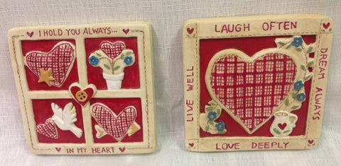 #18906 - HEARTWARMER RESIN PLAQUE 2ATGB  -  72/CASE