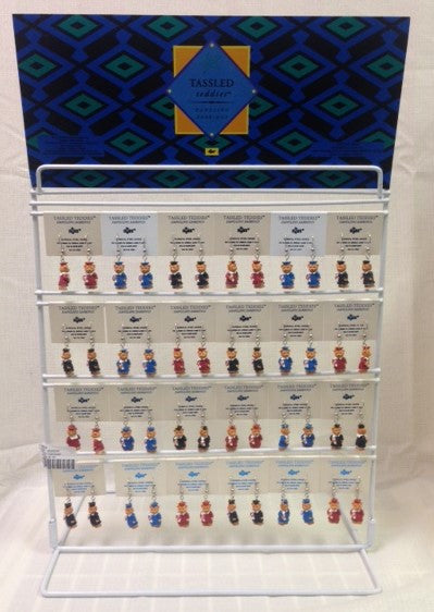 #19024 - EARRING-GRAD TASSLED BEARS 2AT  -  144/CASE