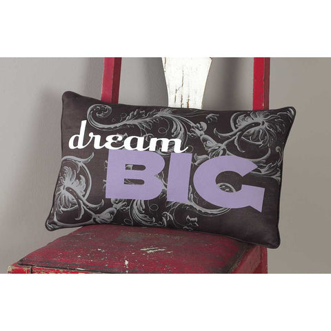 "#248009 - 20X12"" COTTON POLY PILLOW DREAM BIG  -  12/CASE"