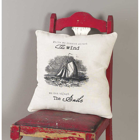 "#248011 - 18""SQ. PILLOW- THE WIND/SAILS  -  12/CASE"