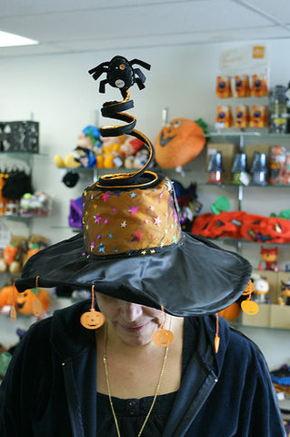 "#26950 - 12""WITCH HAT W/BLINKING SPIDER  -  12/CASE"