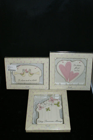 "#28129 - 6.5""WEDDING PLAQUES 3AT WGB  -  72/CASE"