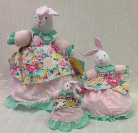 "#2998 - 13""FABRIC 3 IN 1 BUNNY S/3  -  24/CASE"