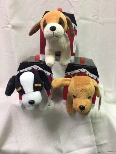 "#30164 - 7""PLUSH SANTA PAWS W/ HOUSE  -  24/CASE"