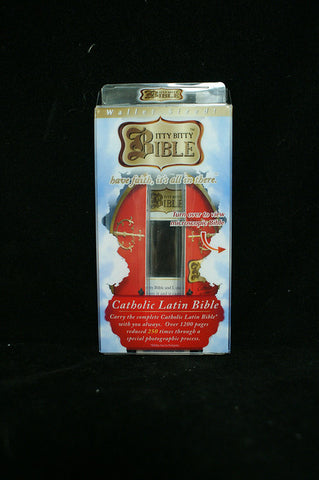 #31299 - ITTY BITTY BIBLE-KING JAMES CATHOLIC LATIN  -  24/CASE