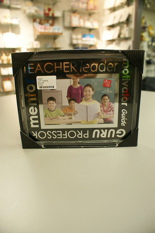"#36555 - 4X6"" GLASS TEACHER FRAME GB TEACHER/LEADER  -  24/CASE"