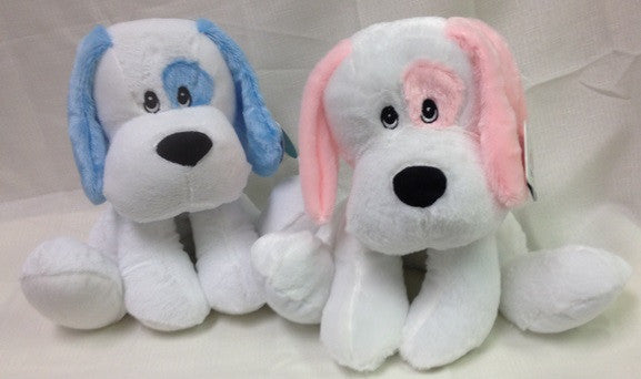 "#40157 - 10"" SITTING DOGS W/ RATTLE  -  24/CASE"