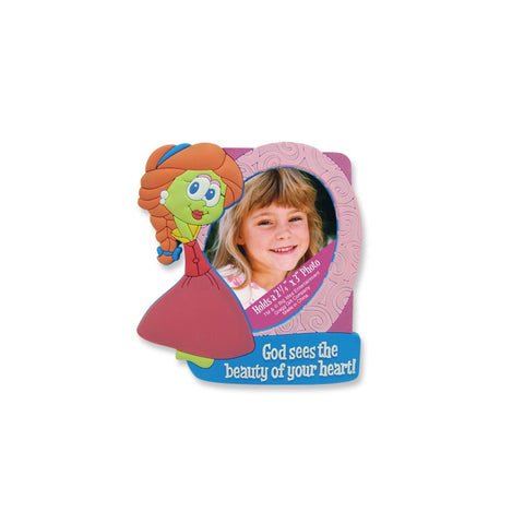 #4021594 - VEGGIE TALES MAGNET FRAME SWEETPEA BEAUTY  -  300/CASE