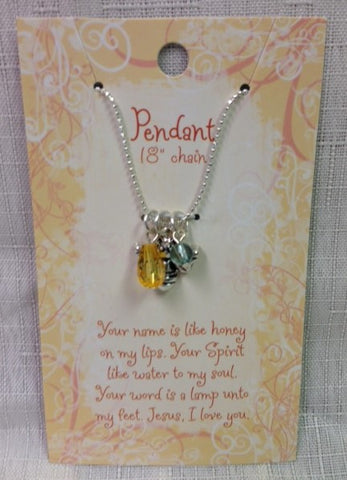 "#4021936 - BEE PENDANT W/18"" CHAIN  -  200/CASE"