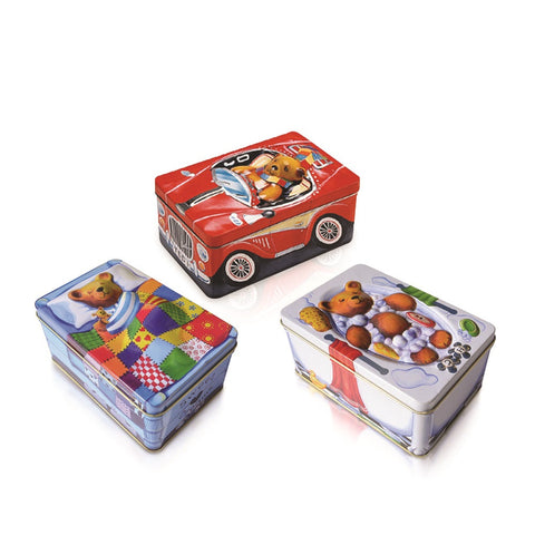"#4029921 - 5.5"" SMALL TEDDY TINS 3A/T  -  36/CASE"