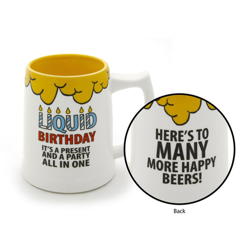 #4034990 - 20 OZ. LIQUID BIRTHDAY STEIN  -  24/CASE