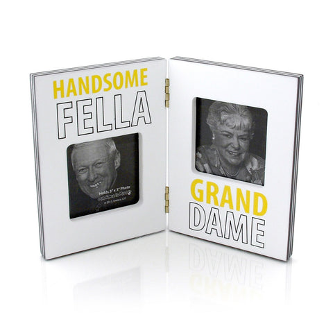 "#4035045 - 3""X 3""DOUBLE FRAME HANDSOME FELLA GRAND DAME  -  48/CASE"