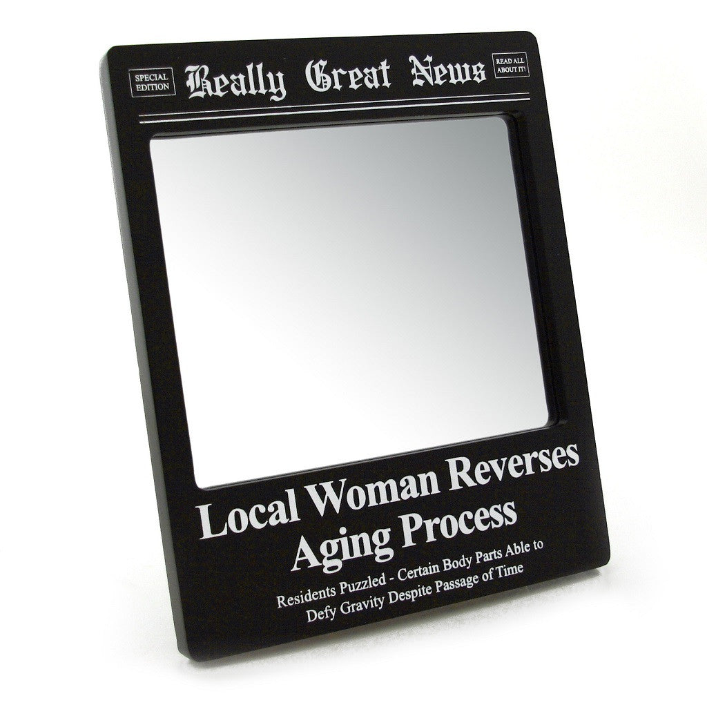 "#4035223 - 9""H GREAT NEWS MIRROR-AGING  -  24/CASE"