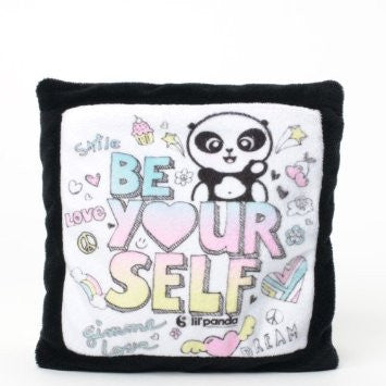 "#4036825 - LIL'PANDA 6""SQ.PILLOW-BE YOUR  -  96/CASE"