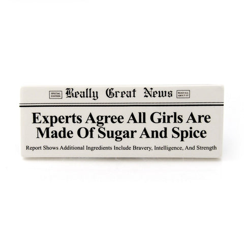 "#4037228 - 8.5""GREAT NEWS PLAQUE-ALL GIRL  -  48/CASE"