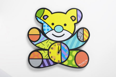 "#4037395 - 12""BRITTO BEBE BEAR WALL CLOCK  -  10/CASE"