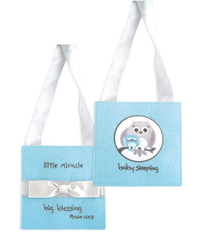 "#4042055 - GIGRA-4""DOOR HANGER BABY BOY FABRIC-BABY SLEEPING  -  608/CASE"