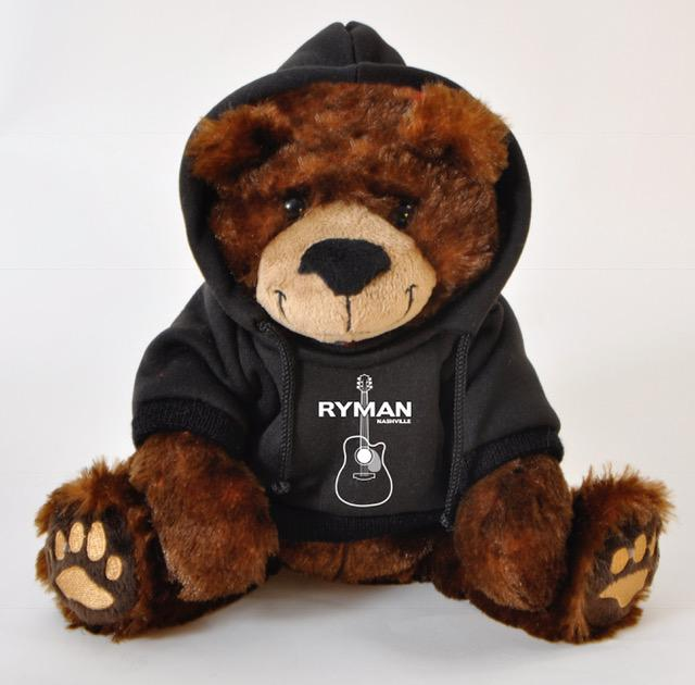 "#612113RM - 8"" RUFUS BEAR BROWN AND BLACK RYMAN NASHVILLE HOODIE  -  48/CASE"