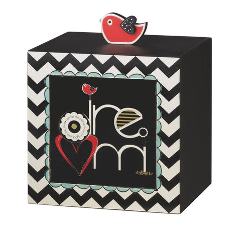 "#651476 - 7""H DREAM W/BIRD STORAGE BOX  -  4/CASE"