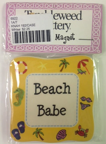 "#6922 - 3""D MAGNET-BEACH BABE  -  192/CASE"