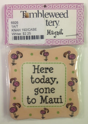 "#6926 - 3""D MAGNET-GONE TO MAUI  -  192/CASE"