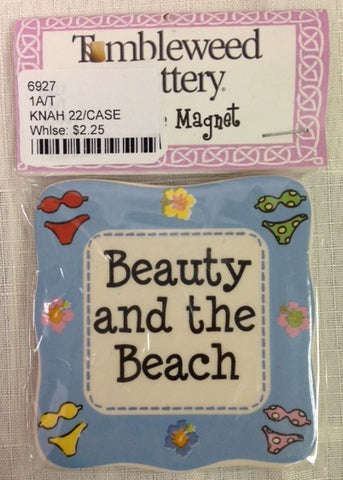 "#6927 - 3""D MAGNET-BEAUTY & THE BEACH  -  22/CASE"