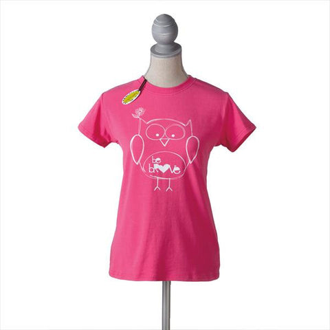 #709788 - BE BRAVE PINK OWL T-SHIRT LG.  -  72/CASE