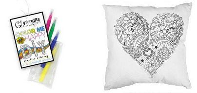 "#7104312 - COLOR ME 16"" PILLOW W/4MARKERS  -  12/CASE"
