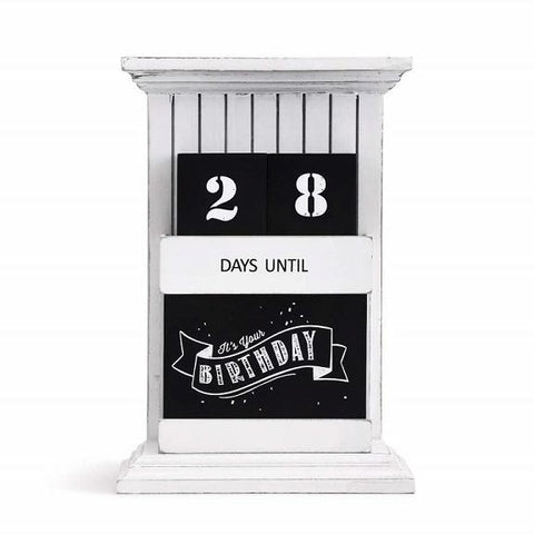 "#8020160017 - 9.5"" COUNTDOWN TO EVERYTHING WOOD DESKTOP CALENDAR  -  6/CASE"