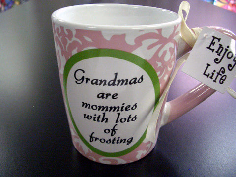 #8341 - 20 OZ. SENTIMENT MUG GRANDMAS ARE MOMMIES W/ FROST  -  18/CASE