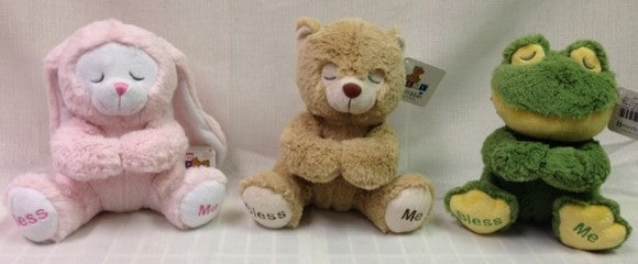 "#844112 - 7.5"" PLUSH PRAYING ANIMALS 3AT  -  36/CASE"