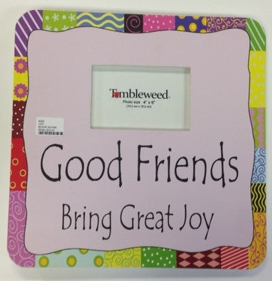 "#8550 - 14""SQ.WOOD FRAME-GOOD FRIENDS  -  8/CASE"