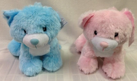 "#902775 - 10"" PINK & BLUE KITTY CATS  -  24/CASE"
