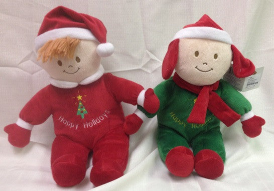"#91930 - 10""SITTING XMAS DOLLS  -  24/CASE"