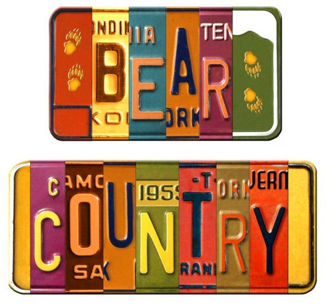 "#B5050151 - 14X12"" BEAR COUNTRY DOUBLE VANITY PLATE  -  48/CASE"