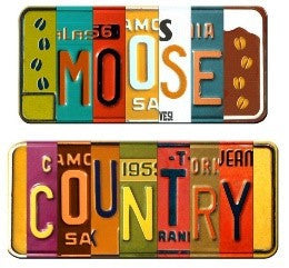 "#B5050152 - 14X12"" DOUBLE VANITY PLATE MOOSE COUNTRY  -  48/CASE"